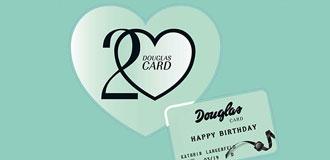 DIE DOUGLAS CARD WIRD 20!